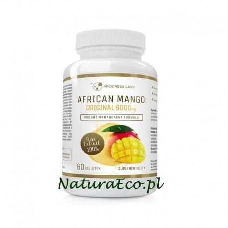 AFRYKAŃSKIE MANGO 6000 mg - African Mango 60 tab. ODCHUDZANIE